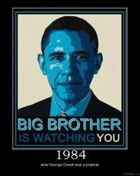 Een typerend voorbeeld van een overtreding van de Wet van Arken. Amerika is onder de liberale President Obama helemaal geen Orwelliaanse staat geworden, en George Orwell was helemaal geen profeet.