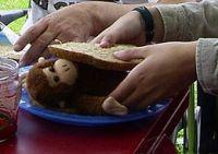 Een broodje aap is een hotdog met apenvlees in plaats van hondenvlees.