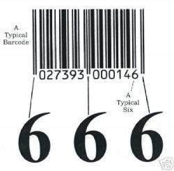 Barcodes zouden een manifestatie zijn van het getal 666.