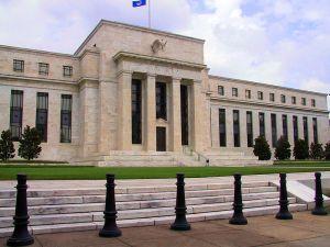 Het hoofdkantoor van de Federal Reserve in Washington DC. There be aliens here!