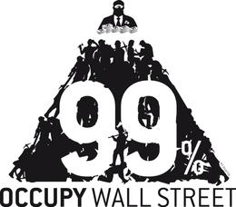 Het 99%-logo van Occupy Wall Street.