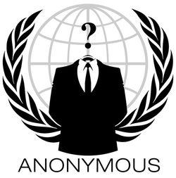 Veelgebruikt logo van Anonymous