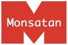 Het logo van Monsatan's manifestatie als gezichtloos bedrijf.