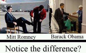 Toont deze afbeelding een mentaliteitsverschil tussen Obama en Romney?