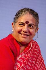 Milieuactiviste en pseudowetenschapper Vandana Shiva.